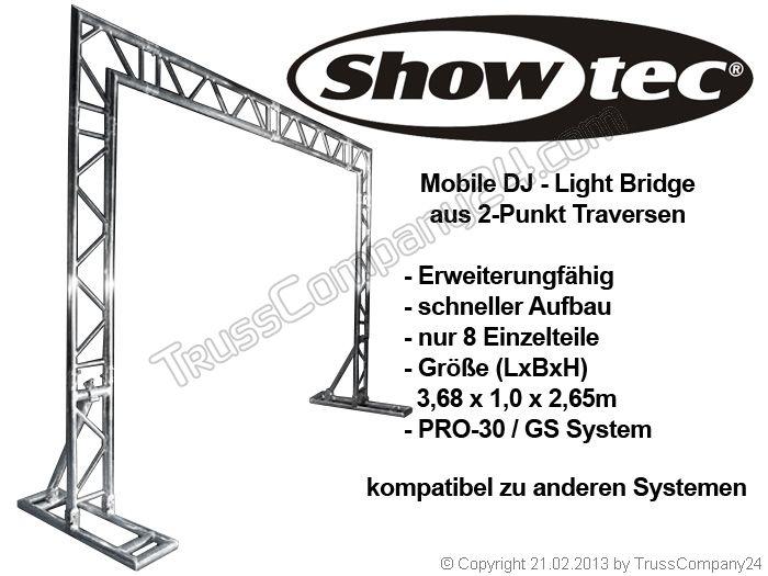 sonderpreis showtec mobiles dj 2 punkt traversensystem. Black Bedroom Furniture Sets. Home Design Ideas